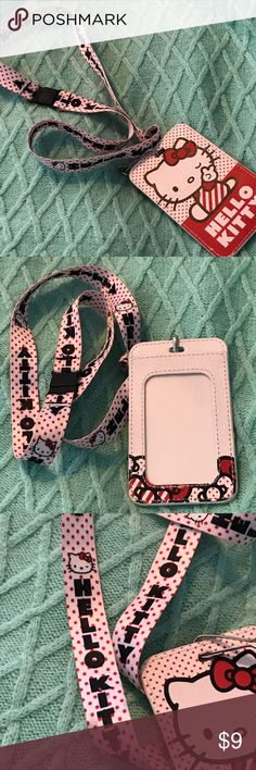 HELLO KITTY LANYARD🌷🌷🌷 Brand New without Tags ... HELLO KITTY LANYARD... So Cute for the Collector 🌷🌷🌷 Hello Kitty Accessories Key & Card Holders