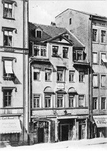 Wagners Geburtshaus in Leipzig, 1885