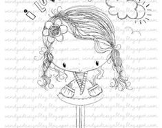 All Dressed Up Three Little Party Girls от alldressedupstamps