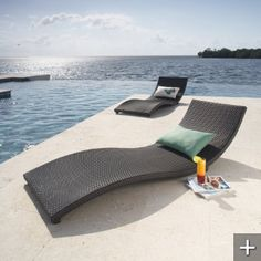 To tan by my pool side ocean. Furniture Near Me, Lounge Furniture, Wicker Furniture, Outdoor Furniture, Poolside Furniture, Pool Lounge Chairs, Outdoor Chairs, Outdoor Decor, Outdoor Lounge