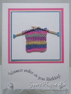 Birthday card knitting idea