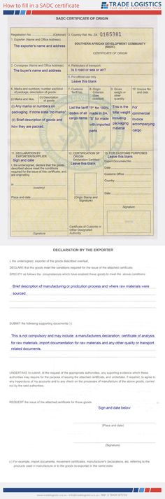 Example of a completed EUR 1 certificate Import Export Basics - building completion certificate sample