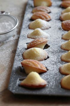 vanilla browned butter madeleines.