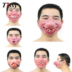 New!1PC Funny&Scary Of Half Face Clown Latex Masks For Cosplay Costume/ Halloween Party Decoration Supplies-in Party Masks from Home & Garden on Aliexpress.com | Alibaba Group
