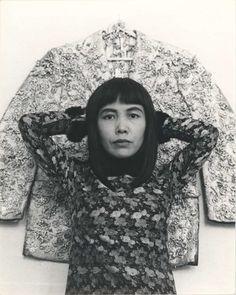 Yayoi Kusama, Solo exhibition at Orez Gallery, The Hague, Netherlands.1965.Photo by Marianne Dommisse