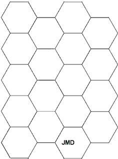 Printable Hexagon Template