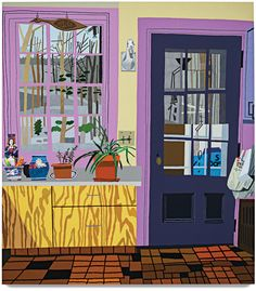 Jonas Wood's ''Kitchen with Aloe Plant,'' 2013. TO USE AS BACKGROUND FOR STYLING