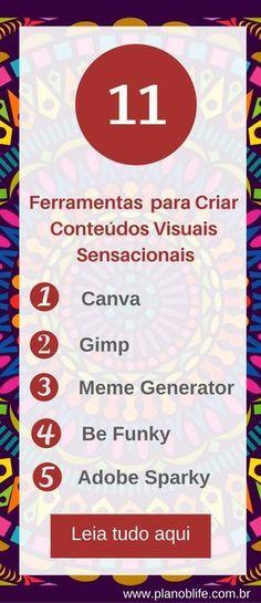 Conheça essas 11 ferramentas para criar conteúdos visuais sensacionais #blog #design #marketingdeconteudo
