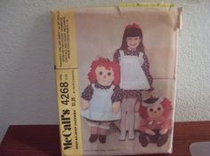 1974  McCalls Raggedy Ann and Andy Pattern by doyourememberwhen, $15.00