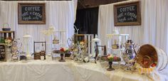 This coffee/hot cocoa/apple cider bar from the theeventpro.com is a must-have for your reception! (images by shutterfreek.com)