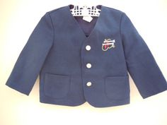 Size 2T Vintage Toddler Boy Blue Classic Preppy by LittleMarin,
