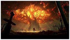 Burned Teldrassil artwork #worldofwarcraft #blizzard #Hearthstone #wow #Warcraft #BlizzardCS #gaming