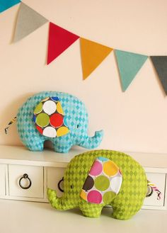 Elephants by Retro Mama with Bailey from @Blend Fabrics