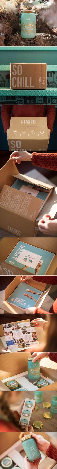 Check Out The Adorable Packaging and Unboxing For Fiasco Gelato's Hot Chocolate — The Dieline   Packaging & Branding Design & Innovation News