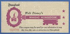 disneyland ticket media, 1963