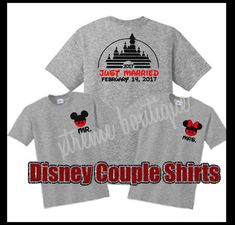 Disney Couple Shirt Disney Mr and Mrs Shirt Just Married
