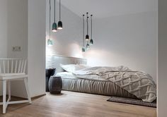 Cable knit blanket, bedroom and white interiors home tour Kiev, on NONAGON.style
