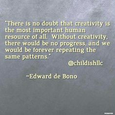 How is your creativity helping you change old patterns? Share your ideas. Visit our website thinklikeachild.com