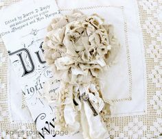 How exquisite - tattered layered rose tutorial found on Katies Rose Cottage