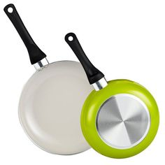 Cook N Home 2 Piece Nonstick Ceramic Coating 8' and 9.5' Saute Fry Pan/Skillet Pan Cookware set, Green -- Check out the image by visiting the link.
