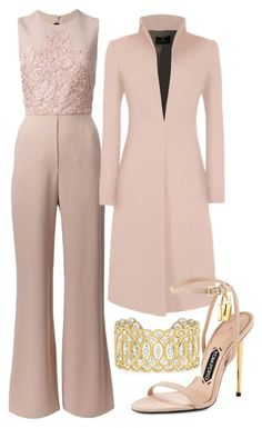 Nude Bush & Gold by carolineas on Polyvore featuring polyvore, fashion, style, Elie Saab, Tom Ford, Buccellati and clothing