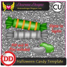 Halloween candy template