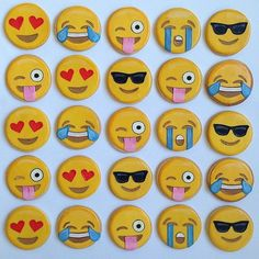 An array of emotions Emoji cookies
