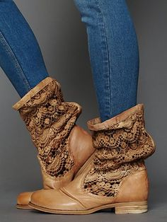 Crochet Slouch Boot- Free People. I want these NOW!!
