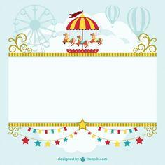 Vector plantilla de circo