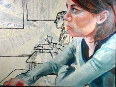AP Art Studio Concentrations---a portrait example. Notice the angles of the arms. Ap Art Concentration, Ap Drawing, Ap Studio Art, Art Curriculum, School Art Projects, Arts Ed, Human Art, Elements Of Art, Art Portfolio