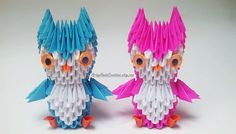 3d Origami Miniature Owl 3d Origami Mini by ArtsyHandsCreations