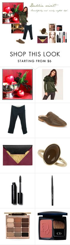 """""""For Scarlett (friend) - Scarlett's ideal wardrobe by me: #389: Dublin visit!"""" by sarah-m-smith ❤ liked on Polyvore featuring MCM, Missguided, By Malene Birger, Free People, Dareen Hakim, Morgan, Dorothy Perkins, Bobbi Brown Cosmetics, Stila and Christian Dior"""