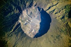 This date in science: Largest volcanic eruption in recorded history. On April 10, 1815, Mount Tambora sent so much crud into the atmosphere that it blocked the sun. What became known as the Year Without a Summer came a year later, in 1816.  Tambora seen from the International Space Station in 2009. Image credit: NASA