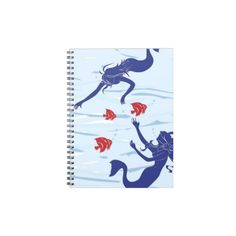 Mermaids At Play Spiral Notebook