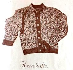 Herrekufte. Fra ei gammel strikkebok av fru Aslaug Sirnes Helgø. Embroidery Patterns, Knitting Patterns, Norwegian Knitting, Tapestry Weaving, Sweden, Knitwear, Fabric, Sweaters, Color