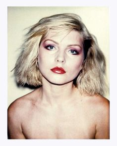 Debbie Harry polaroids by Andy Warhol, 1980