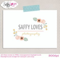 Floral Flourish Premade Custom photography Business Logo Design (112)