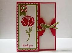 Peanuts and Peppers Papercrafting: Try It Thursday - Stampin' Up! Simple Stems Scalloped Tag Punch Closure Card and Tutorial