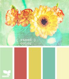 vased color #greens #reds #yellows