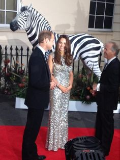 Prince William & Duchess Catherine at the Tusk awards, September 12, 2013. Via Georgina Brewer on Twitter.