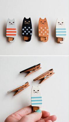 Idea de perros para ropa con adorno. Para fijar papeles en tu escritorio, porta notas.