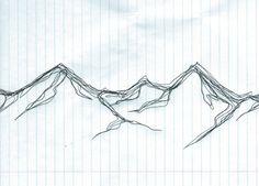 go-climb-the-mountains:  Quick 3 min mountain sketch with ballpoint pen.
