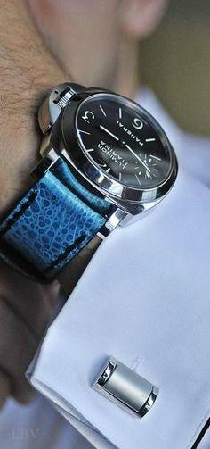 .Panerai On blue alligator strap nice
