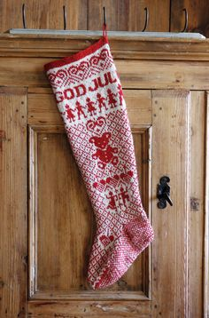 Ravelry: Julestrømpe pattern by PT Design of Norway - fair isle knittings Christmas Stocking Pattern, Knitted Christmas Stockings, Xmas Stockings, Christmas Knitting, Christmas Cross, Christmas Time, Vintage Christmas, Christmas Ornaments, Crochet Home
