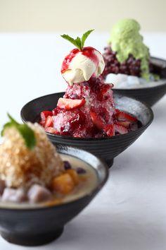 Taiwanese Ice Desserts Asian Desserts, Asian Recipes, Sweet Recipes, Taiwanese Shaved Ice, Frozen Desserts, International Recipes, Street Food, Food Photography, Like4like