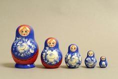 "5 Piece ""Vyatskaya Matryoshka"" number 03687 - 98"