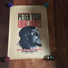 Peter Tosh Equal Rights 1977 Colombia Records&Tapes Rare Original Vintage Music Poster by RockPostersTreasures on Etsy