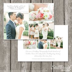 Photography Marketing Flyer Photo Card for Photographers - Wedding Photography Marketing Postcard Template Board