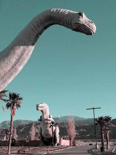 Cabazon dinosaurs CA brings back childhood road trip memories Dinosaur Wallpaper, Dinosaur Photo, Jurassic World Dinosaurs, Fallout New Vegas, Roadside Attractions, California Love, Blue Aesthetic, Picture Wall, Dinosaurs