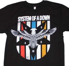 System of a Down T-Shirt cool metal punk 90's rock concert cotton black tee  #RedHotChiliPeppers #GraphicTee